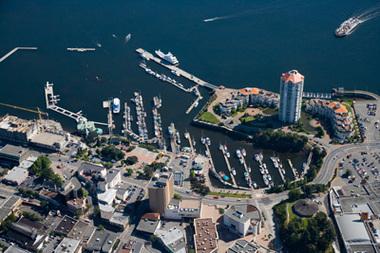 Nanaimo Boat Basin & W.E. Mills Marina aerial