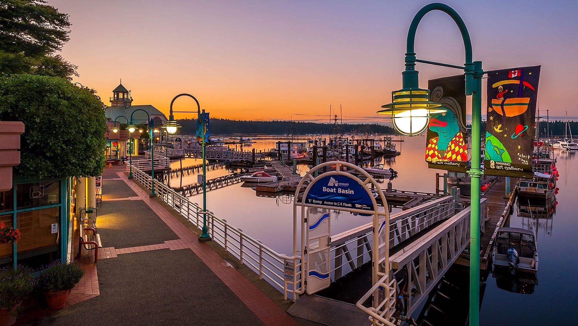 The Marina Walk at Sunset