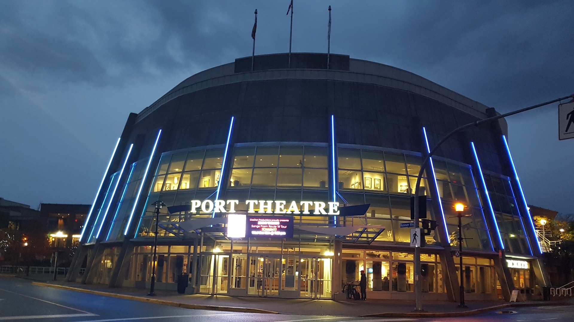 Outside image of the Port Theatre