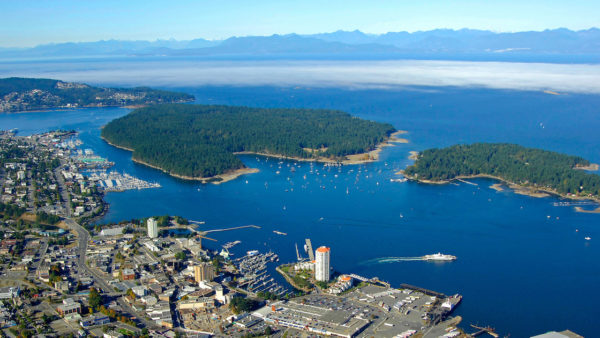 Photo of Nanaimo Harbour from drone.