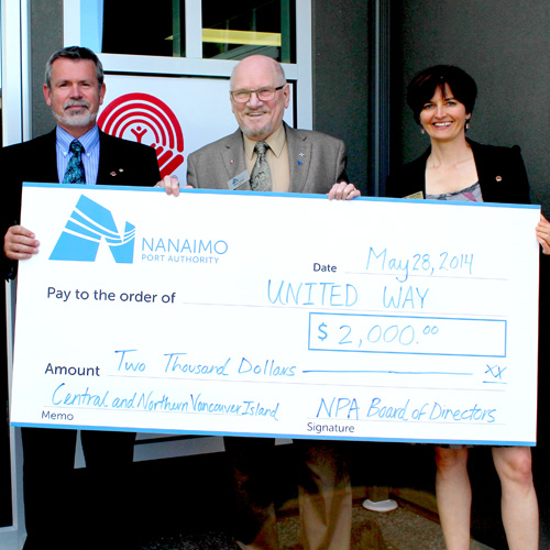 Port of Nanaimo - Community Involvement Fund supports United Way