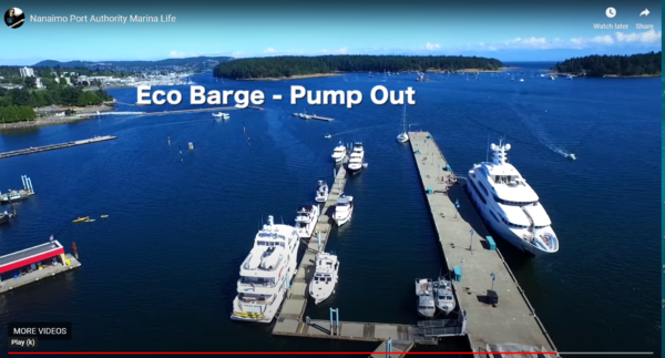 Aerial - Eco Barge - Port of Nanaimo
