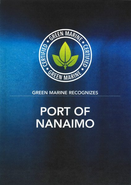Green Marine Certification 2019 - Port of Nanaimo