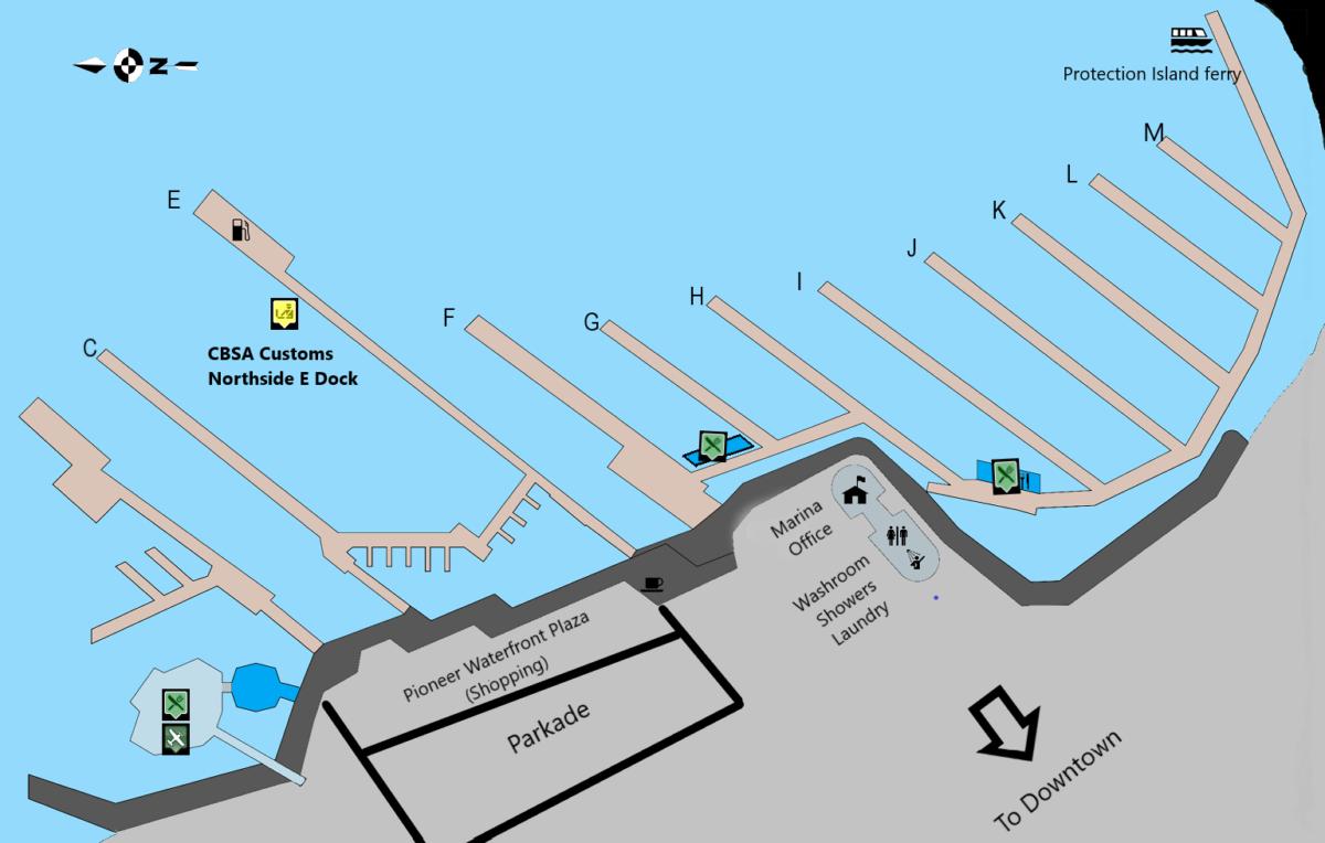 Map- Nanaimo Boat Basin